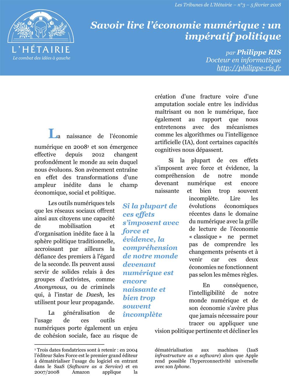 cliquer pour télécharger le fichier pdf savoir lire l'économie numérqiue