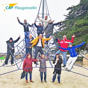 photo structure plage cap plougonvelin