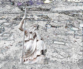 druide sur la nécropole de Plougonvelin